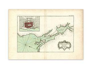 Bellin, Jacques Nicolas. Plan de la Baye de Chibouctou nommee par les Anglois Halifax