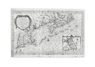Bellin, Jacques Nicolas. Carte Reduite du Costes Orientales de L'Amerique Septentrionale É