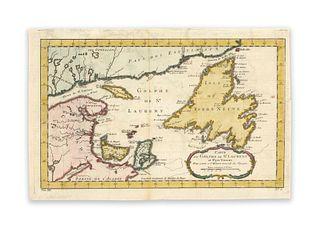 Bellin, Jaques Nicolas. Carte du Golphe de St. Laurent et Pays Voisins
