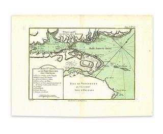 Bellin, Jaques Nicolas. Baye Ste Anne ou le port Dauphin dans LÕIsle Royale