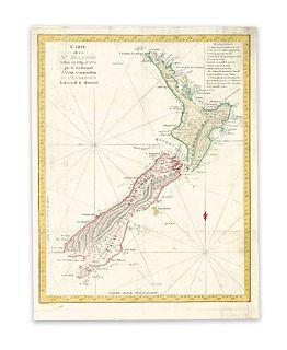 Benard, Robert. Carte de la N.le.Zelande visitee en 1769, et 1770 par le Lieutenant J. Cook