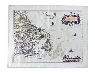 Blaeu, Joan. Extrema Americae Versus Boream ubi Terra Nova Nova Francia
