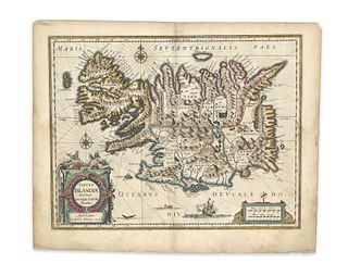 Blaeu, Willem Jansz. Tabula Islandiae Auctore Geogrio Carolo Flandro