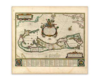 Blaeu, Willem Jansz.. Mappa Aestivarum Insularum alias Barmudas dictarum