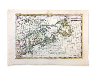 Bonne, Rigobert. L'Isle De Terre-Neuve, L'Acadie, ou La Nouvelle Ecosse, l'Isle St. Jean, et la Partie Orientale Du Canada
