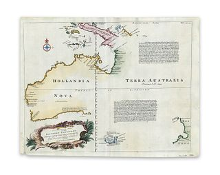 Bowen, Emanuel. A Complete Map of the Southern Continent. Survey'd by Capt. Abel Tasman & depicted by Order of the East India Company in Holland...