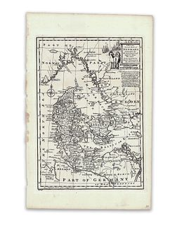 Bowen, Emanuel. A New and Accurate Map of Denmark