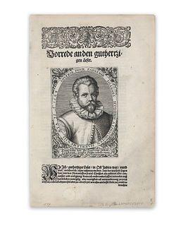 Bry, Theodore de. Portrait von Jan Huyghen van Linschoten