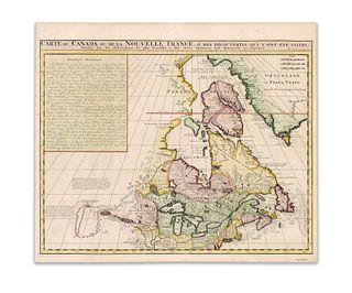 Chatelain, Henri Abraham. Carte du Canada ou de la Nouvelle France...