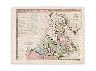 Chatelain, Henri Abraham. Carte du Canada ou de la Nouvelle France