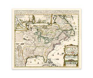 Chatelain, Henri Abraham. Carte de la Nouvelle France, ou se voi le cours