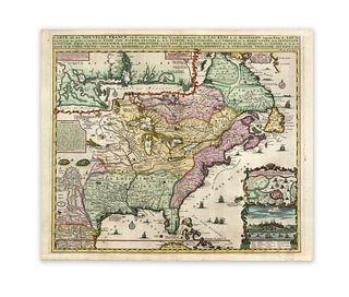 Chatelain, Henri Abraham. Carte de la Nouvelle France, o se voit le cours des Grandes Rivieres de S.Laurens & de Mississipi É