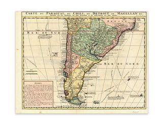 Chatelain, Henri Abraham. Carte du Paraguai, du Chili, du Detroit de Magellan...
