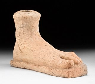 Roman Terracotta Left Foot Votive