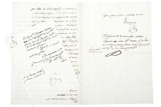 Velázquez. Carta dirigida a la Junta de Seguridad por Causa de Infidencia contra Julián Castillejos. Méx, 1812, rúbrica Venegas. Pzs: 2