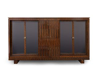 A German Art Deco Style Maccassar Cabinet