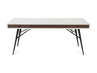 A Powell & BonnellLacquered Desk Height 30 x width 72 x depth 30 inches.