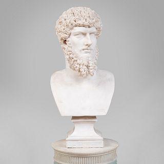 Large Plaster Bust of Emperor Lucius Verus