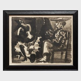 After Pablo Picasso (1881-1973) and Pablo Neruda (1904-1973): Toros. 15 Lavis Inédits: Five Plates