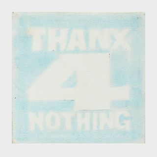 John Giorno (1936-2019): Thanx 4 Nothing