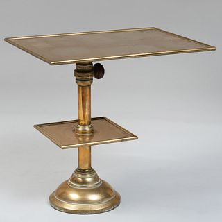Modern Two-Tier Brass Telephone Table
