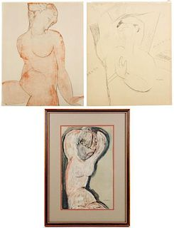 3 Maeght Lithographs, After Amedeo Modigliani