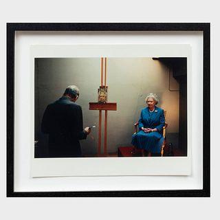 David Dawson (b. 1960): Lucian Freud Painting The Queen