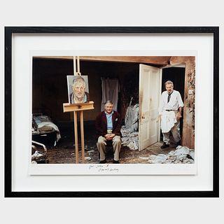 David Dawson (b. 1960): Lucian Freud Painting David Hockney