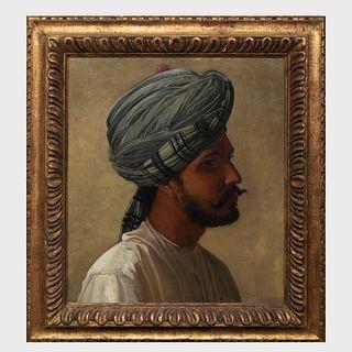 European School: Portrait of a Man in a Turban