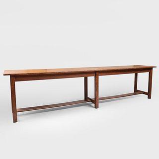 Large Oak Trestle Table