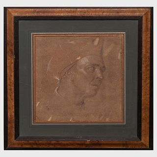 Attributed to Charles West Cope (1811-1890): Cardinal's Head