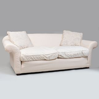 Large Muslin Upholstered Sofa
