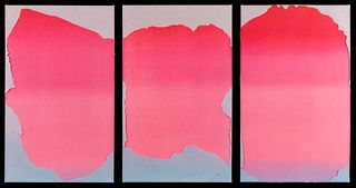 Joe Goode (American, b. 1937) Untitled (Triptych)from Wash and Tear Series, 1975
