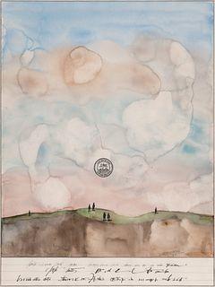 Saul Steinberg (American, 1914-1999) Mesa with Figures, 1971