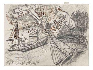 Malcolm Morley (British, 1931-2018) Study for Regatta, 1994