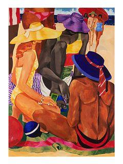 Jonathan Green (American, b. 1955) Untitled (Beach Scene)