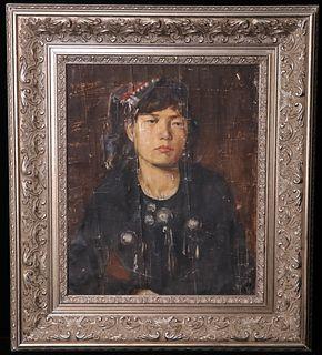 Oil Portrait of a Lady, XU BEIHONG