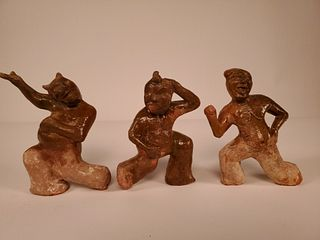 TL tested.Three dancing figures,Han Dynasty,