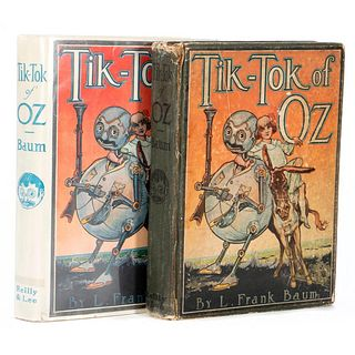 Two copies of Tik-Tok of Oz, one in jacket