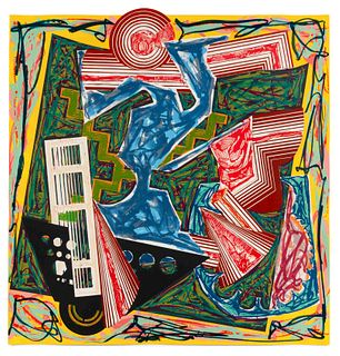 Frank Stella (American, b. 1936) Then Water Came and Quenched the Fire (fromIllustrations after El Lissitzky's Had Gadya), 1984