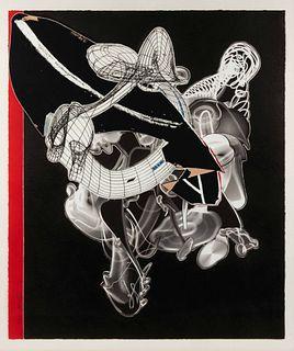 Frank Stella (American, b. 1936) Schwarze Weisheit for D.J., 2000