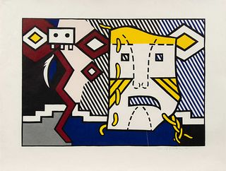 Roy Lichtenstein (American, 1923-1997) American Indian Theme V (from American Indian Theme Series), 1980