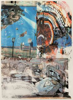 Robert Rauschenberg (American, 1925-2008) L.A. Uncovered #11 (from the L.A. Uncovered series), 1998