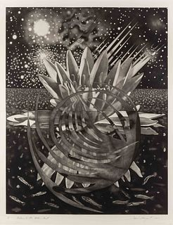 James Rosenquist (American, 1933-2017) Welcome to the Water Planet, 1987
