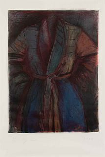 Jim Dine (American, b. 1935) A Red Robe in France, 1986