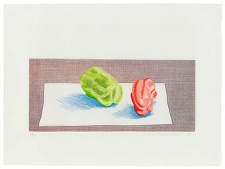 David Hockney (British, b. 1937) Two Peppers, 1973
