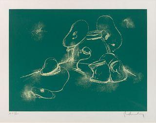 Claes Oldenburg (American, b. 1929) Soft Drum Set - on Chalk Board, 1972