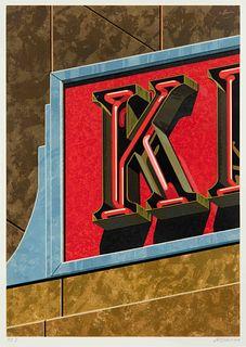 Robert Cottingham (American, b. 1935) An American Alphabet: K, 1997
