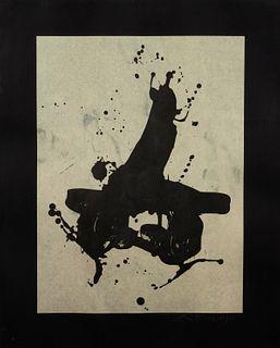 Robert Motherwell (American, 1915-1991) Black on Black, 1978