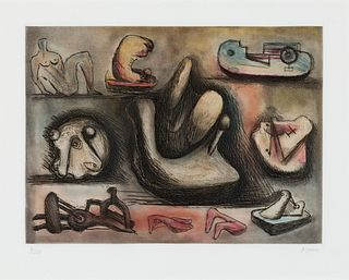 Henry Moore  (British, 1898-1986) Sculptural Ideas 6, 1980